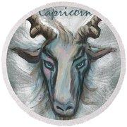 Capricorn Round Beach Towel
