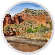 Caprock Canyon Round Beach Towel