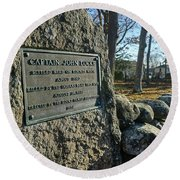 Captain John Locke Monument  Round Beach Towel