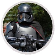Round Beach Towel featuring the photograph Captain Phasma - The Force Awakens by John Black