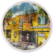 Captain Tony's Saloon Round Beach Towel