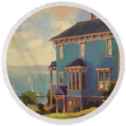 Captain's House Round Beach Towel