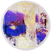 Round Beach Towel featuring the painting Captiva by Dominic Piperata