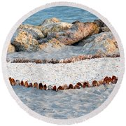 Captiva Love Round Beach Towel