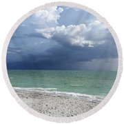 Captiva On Gulf Of Mexico Round Beach Towel