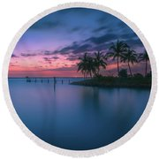 Captiva Sunset Round Beach Towel