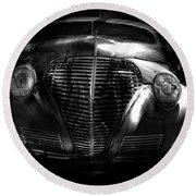 Car Art 1939 In A Bubble Bw Round Beach Towel