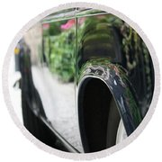 Car Sideview Round Beach Towel