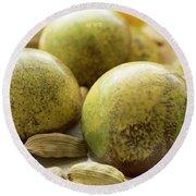 Caradamon-lemon Chocolate Round Beach Towel