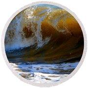 Caramel Swirl Round Beach Towel