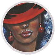 Carbaret Red Round Beach Towel