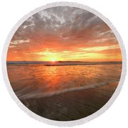 Round Beach Towel featuring the photograph Cardiff Starburst by John F Tsumas