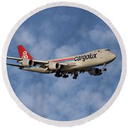 Cargolux Boeing 747-8r7 1 Round Beach Towel