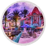 Caribbean Beach Resort Round Beach Towel