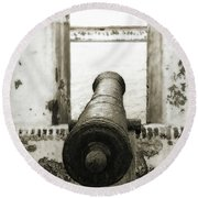 Caribbean Cannon Round Beach Towel by Steven Sparks