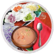 Round Beach Towel featuring the photograph Caribbean Gazpacho by The Art of Alice Terrill