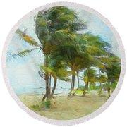 Caribbean Getaway Round Beach Towel