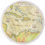 Caribbean Map - Good Round Beach Towel