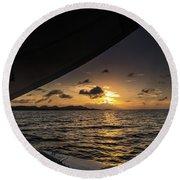Caribbean Sail St Croix Round Beach Towel