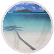 Caribbean Shadow Round Beach Towel