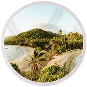 Caribbean Sunrise Round Beach Towel
