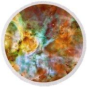Carina Nebula Round Beach Towel by Paul W Faust - Impressions of Light