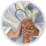 Caring A Tradition Of Nursing Round Beach Towel