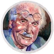 Carl Gustav Jung Portrait Round Beach Towel