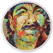 Carlos Santana Round Beach Towel