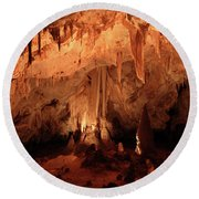 Round Beach Towel featuring the photograph Carlsbad Caverns 2 by Marie Leslie