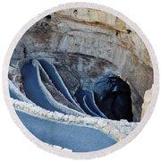 Carlsbad Caverns Natural Entrance Round Beach Towel