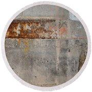 Carlton 16 Concrete Mortar And Rust Round Beach Towel