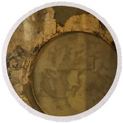 Carlton 3 - Abstract Concrete Round Beach Towel