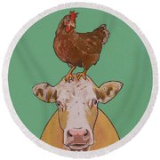 Carlyle The Cow Round Beach Towel