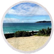 Carmel By The Sea Round Beach Towel