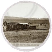 Carmel Mission, With Glimpse Of River And Bay Circa 1880 Round Beach Towel