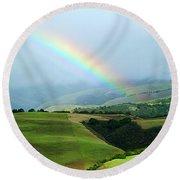 Carmel Valley Rainbow Round Beach Towel