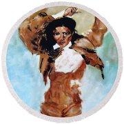 Carmen Amaya Round Beach Towel by Manuel Sanchez