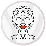 Carmina Round Beach Towel