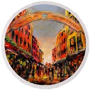 Carnaby Street London Round Beach Towel