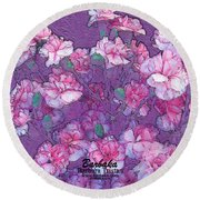 Round Beach Towel featuring the digital art Carnation Inspired Art by Barbara Tristan