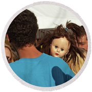 Round Beach Towel featuring the photograph Carnival Adoption by Joe Jake Pratt