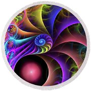 Carnival Round Beach Towel by Kathy Kelly
