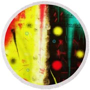 Round Beach Towel featuring the digital art Carnival by Silvia Ganora