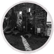 Round Beach Towel featuring the photograph Photographs Of Cornwall Carnon Mine by Brian Roscorla