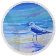 Carolina Gull Round Beach Towel