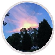 Carolina Summer Sky Round Beach Towel