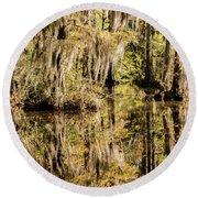 Carolina Swamp Round Beach Towel