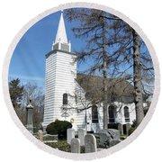 Caroline Church Of Brookhaven  Round Beach Towel