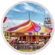 Carousel Round Beach Towel